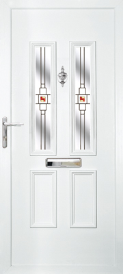 white door with glass rectangle panes