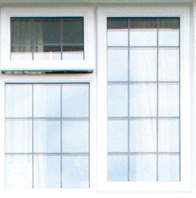 double pane window with top left section open